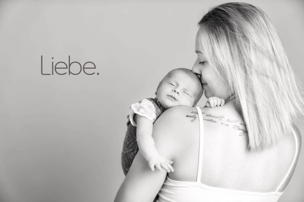 Babyshooting mit Mutter