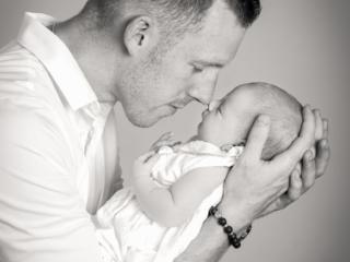 Babybild mit Vater
